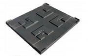 Coiffe palette plastique - Dimensions extérieures : 1020 x 1210 mm