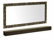 Coiffeuse murale horizontale - Dimensions de coiffeuse (H x L x P) : 85 x 180 x 25 cm