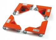Coins roulants pour meubles 50 x 20 mm - Charge (kg) : 150 / Pièce