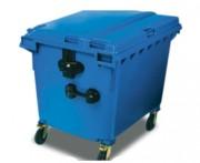 Collecteur à déchets avec couvercle - Capacité (L) : 1000