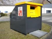 Collecteur d'huile minérale 3000 litres - Volume bidons vides : 1200 litres