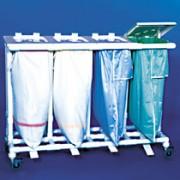 Collecteur de 4 sacs à linge - Volume en litre/ kg : 4 x 120 / 35