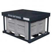 Collecteur de batteries usagées - Capacité de stockage : 60 batteries env. 600 litres
