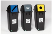 Collecteur de tri en plastique - En polyéthylène robuste et durable.