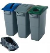 Collecteur pour tri sélectif rubbermaid - Capacité (L) : de 60 à 87