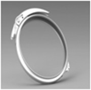 Collier fin - Assemblage d'éléments de diamètre 0,75 à 1,25mm.