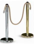 Colonne de balisage à cordon - Hauteur : 100 cm - Diamètre (colonne) : 7 cm  - Diamètre (base) : 32 cm