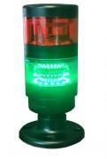 Colonne de signalisation lumineuse Led rouge/vert - Colonne en polycarbonate noir et lentille translucide