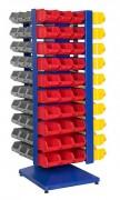 Colonne rotative bacs à bec - Permet de stocker 120 bacs - Dimensions du bac (L x l x h) : 148 x 255 x 114 mm