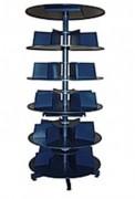 Colonne rotative de stockage - Rangement métallique à plusieurs niveaux