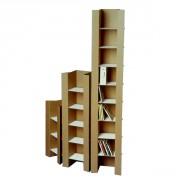 Colonnette rangement 108 CD en carton - Monté : 124.00 x 23.00 x 15.00 cm