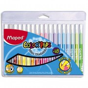 Color PEPS pochette de 18 feutres de coloriage pointe moyenne - Maped