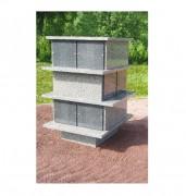 Columbarium 12 concessions 1.6 x 1.24 mm - Dimensions (HxL) mm : 1.6 x 1.24