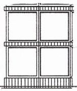 Columbarium granit 4 cases - Dimensions de l'ensemble (L x l x h) : 1.12 x 0.75 x 1.14 m