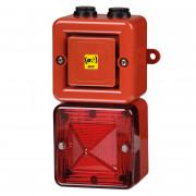 Combiné 100dB feu LED   - Combiné 100dB feu LED IP66 10 sons FLH1