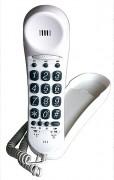 Combiné amplifié larges touches compatible appareil auditif - Niveau de réception ajustable sur 3 positions : 7dB/17dB/22dB