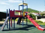Combiné de jeux d'extérieur - Longueur terrain étroit : 5 m - En bois de robinier naturel