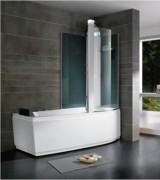 Combiné douche baignoire à pieds réglables - Dimensions (mm) : 1600/1700 x 850 x 2190