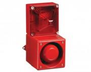 Combiné sirène 108dB feu flash 13J  - Combiné sirène feu flash 13J IP66/67 en fonte Aluminium