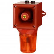 Combiné sirène 112dB feu flash 5J  - Combiné sirène 112dB feu flash 5J IP65 32 sons O530BF