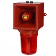 Combiné sirène 112dB feu tournant   - Combiné sirène 112dB feu tournant IP65 32 sons 20W