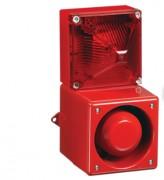 Combiné sirène 114dB feu flash 13J  - Combiné sirène 114dB feu flash 13J en fonte Aluminium