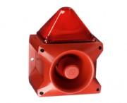 Combiné sirène 117 dB feu flash 15J   - Combiné sirène 117 dB feu flash 15J IP66 PIL11015J