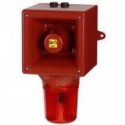 Combiné sirène 119dB feu flash 5J   - Combiné sirène 119dB feu flash 5J IP65 45 sons O530CF