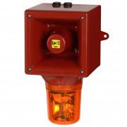 Combiné sirène 119dB feu tournant IP65   - Combiné sirène 119dB feu tournant IP65 45 sons 20W O530CT