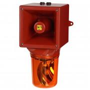 Combiné sirène 126dB feu tournant IP65   - Combiné sirène 126dB feu tournant IP65 45 sons 35W O540DT