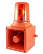 Combiné sonore et lumineux industriel - Puissances sonore : 105 dB à 1 m - 112 dB à 1 m - 121 dB à 1 m