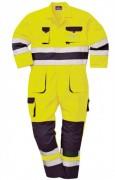 Combinison bicolore de signalisation - Combinaison 65% polyester et 35% coton bicolore