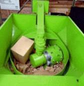 Compacteur broyeur à déchet rotatif - Compactage des déchets ( 3 balles de 1 m3 = 1 tonnes )