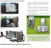 Compacteur de polystyrène expansé - 10 à 130 kg/h - Volume réduit : 30 à 40 fois