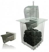 Compacteur déchet pour colonne enterrée PAV - Positionnement du compacteur sous la plateforme du PAV