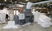 Compacteur emballage polystyrène - Rendement horaire en poids : 190 Kg/h