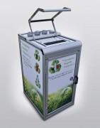 Compacteur et collecteur canettes bouteilles et goblets  - Volume bac de collecte : 160 litres