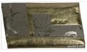 Compagnon couleur dorée en cuir de vachette - Capacité : 12 cartes - Poche à 2 compartiments
