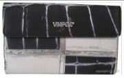 Compagnon en cuir multicolore - Capacité : 20 cartes - Poche à 3 compartiments