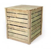 Composteur en bois - Capacité : 400 - 600 - 800 L