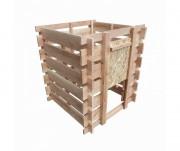 Composteur en bois 390 Litres - Capacité : 390 Litres