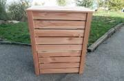 Composteur en bois douglas - Dimensions (L x l x H) mm : 430 x 720 x 1000
