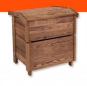Composteur en bois rétifié - Boisalis retifie