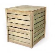 Composteur jardin bois