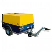 Compresseur de chantier 7 bar 2 m3/min 16,3 CV - Équipé de deux solides vérins pneumatiques