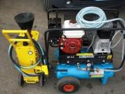 Compresseur mobile thermique - Réservoir: 2 x 11 litres - Poids: 70 kg.