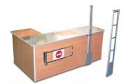 Comptoir caisse modulaire - Modulaire, finition extérieur stratifié