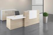 Comptoir d'accueil confort - Dimensions (Lxhxp) : 133 x 120 x 68 cm