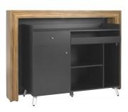 Comptoir d'accueil design - Dimensions (L x P x H) : 160 x 55 x 115 cm