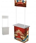 Comptoir d'accueil en carton - Dimensions : l 696 x H 2085 x P 350 mm
